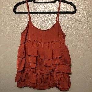 Who What Wear Ruffle Tank